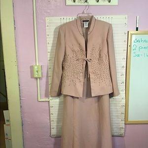 BAHARI ... NWOT vintage evening gown sz16  mauve